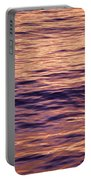 Colorful Ocean Water At Sunset Portable Battery Charger