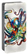 Colorful Octopus Art By Sharon Cummings Portable Battery Charger