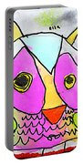 colorful Owl Portable Battery Charger