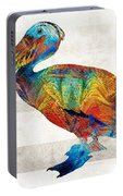 Colorful Pelican Art By Sharon Cummings Portable Battery Charger