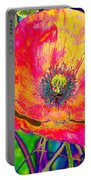 Colorful Poppy Portable Battery Charger