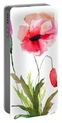 Colorful Poppy Flowers Portable Battery Charger