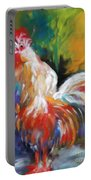 Colorful Rooster Portable Battery Charger
