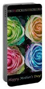 Colorful Rose Spirals Happy Mothers Day Hugs And Kissed Portable Battery Charger