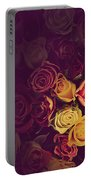 Colorful Roses Background Portable Battery Charger