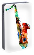 Colorful Saxophone By Sharon Cummings Portable Battery Charger