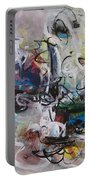Colorful Seascape Abstract Landscape Portable Battery Charger