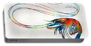 Colorful Shrimp Art By Sharon Cummings Portable Battery Charger