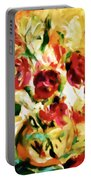Colorful Spring Bouquet - Abstract  Portable Battery Charger