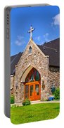 Colorful Stone Catholic Church In North Bay Of Lake Nipissing-on Portable Battery Charger
