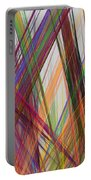 Colorful Straight Line Fractal Flame Portable Battery Charger