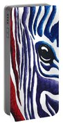 Colorful Stripes Original Zebra Painting By Madart Portable Battery Charger