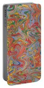 Colorful Swirls Drip Painting Portable Battery Charger