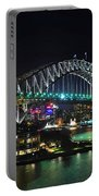 Colorful Sydney Harbour Bridge By Night 3 Portable Battery Charger