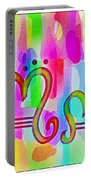 Colorful Texturized Alphabet Mm Portable Battery Charger