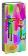 Colorful Texturized Alphabet Tt Portable Battery Charger