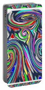 Colorful Twirl Wave Shield Design Background Designs  And Color Tones N Color Shades Available For D Portable Battery Charger