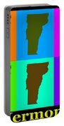 Colorful Vermont Pop Art Map Portable Battery Charger