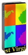 Colorful West Virginia Pop Art Map Portable Battery Charger