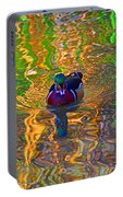 Colorful World Of Wood Duck Portable Battery Charger