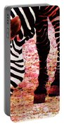 Colorful Zebra - Buy Black And White Stripes Art Portable Battery Charger