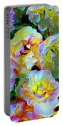 Colors And Roses Portable Battery Charger