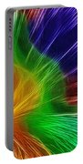 Colors Lines And Textures Portable Battery Charger