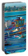 Colors Of A Fishing Fleet Portable Battery Charger