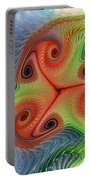 Colors Of Delight Portable Battery Charger by Deborah Benoit