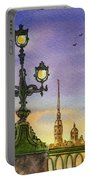 Colors Of Russia Bridge Light In Saint Petersburg Portable Battery Charger
