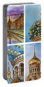 Colors Of Russia Church Of Our Savior On The Spilled Blood  Portable Battery Charger