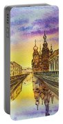 Colors Of Russia St Petersburg Cathedral I Portable Battery Charger by Irina Sztukowski