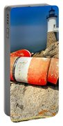 Colors On The Rocks Portable Battery Charger by Adam Jewell