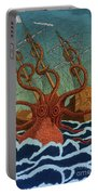 Colossal Octopus Attacking Ship 1801 Portable Battery Charger