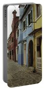 Coloured Houses In Burano Portable Battery Charger