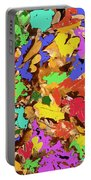 Coloured Oak Leaves By M.l.d. Moerings 2009 Portable Battery Charger