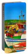 Colourful Boats Portable Battery Charger