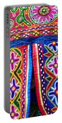 Colourful Fabric Art Portable Battery Charger