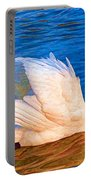 Colourful Swan Portable Battery Charger