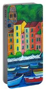 Colours Of Portofino Portable Battery Charger by Lisa  Lorenz