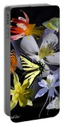 Columbine And Butterfly Collage Portable Battery Charger