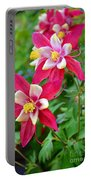 Columbine Flower Portable Battery Charger