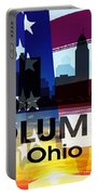 Columbus Oh Patriotic Large Cityscape Portable Battery Charger