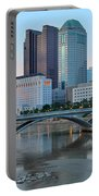 Columbus Ohio At Dusk Portable Battery Charger