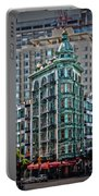 Columbus Tower In San Francisco Portable Battery Charger by RicardMN Photography