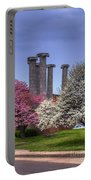 Columns And Dogwood Trees Portable Battery Charger