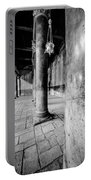 Columns At The Church Of Nativity Black And White Vertical Portable Battery Charger