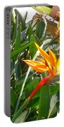 Combination Of Yellow-orange And Red Flower   Portable Battery Charger