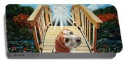 Come Walk With Me Over The Rainbow Bridge Portable Battery Charger