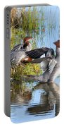 Common Merganser Family 2a Portable Battery Charger